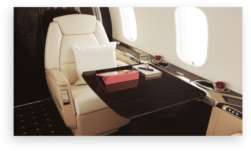 VistaJet Private Jet Interior