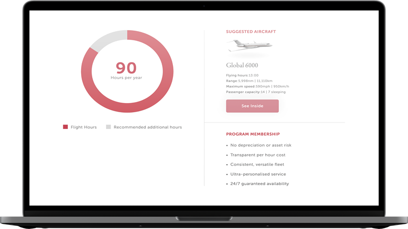 VistaJet Program Builder