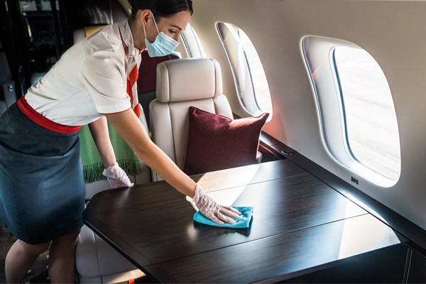 VistaJet Safety Coronavirus COVID-19 Enhanced Cabin Cleaning